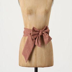 {Anthropologie} Tweed Magnificent Sash size S/M